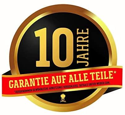 Weber 10 Jahre Garantie